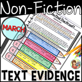 Non-fiction Reading Passages Text Evidence {March}
