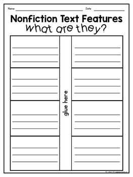 Nonfiction Text Features Freebie
