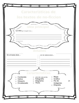 Non-fiction Text Features (Spanish)