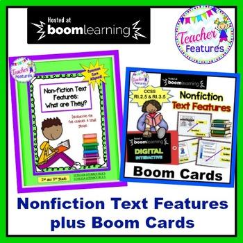 Nonfiction Text Features Activities plus Digital Boom Cards Bundle