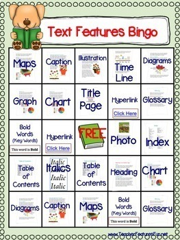 Nonfiction Text Features Activities | Boom Cards Reading | 2nd grade Bundle