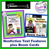 Boom Cards Digital Task Cards & Nonfiction Text Features Activities Bundle
