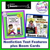 Boom Cards Reading Activities and Nonfiction Text Features Printables Bundle