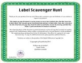 Non fiction Text Features:Label Scavenger Hunt
