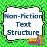Non-fiction Text Structure-Anchor Charts and Graphic Organizers
