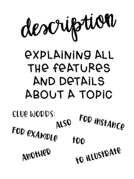Non-fiction Text Structure Posters