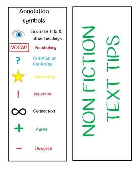 Non-fiction Text Tips Bookmark