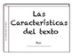 Non fiction Text features in Spanish Caracteristicas del texto