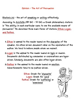 Non-fiction Unit Notes
