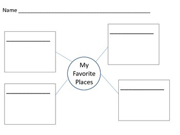 Non-fiction Writing: Favorite Place Pre-writing