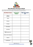 Non-fiction feature find worksheet
