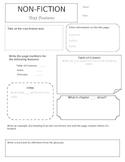 Non-fiction text features (organizer)