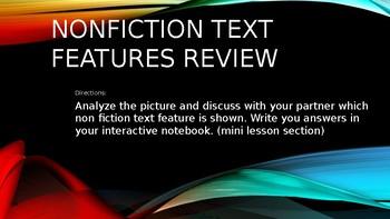 Non fiction text features review