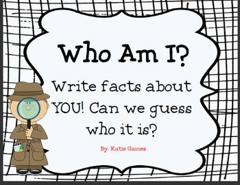 Non fiction/Informational WHO AM I booklet
