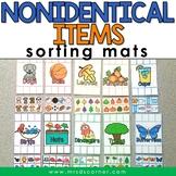 Non-identical Items Sorting Mats [ 10 mats! ] | Non-identi