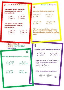 Non-linear (Quadratic) Simultaneous Equations II