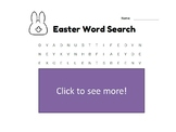 Non-religious Easter Word Search