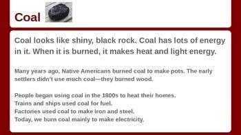 Non-renewable Energy Sources Powerpoint