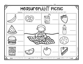 Non-Standard Measurement Center - MeasuremANT Picnic {Freebie}