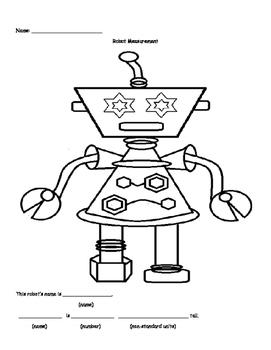 Non-standard Measurement Robot Printable Craft Activity