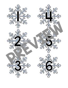 Non-standard Measurement Snowflake Height Strip