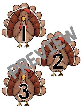 Non-standard Measurement Turkey Height Strip