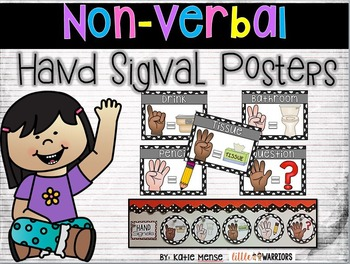 Non-verbal Hand Signal Posters {Free} {Classroom Management}