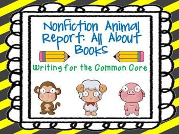 animal book report template