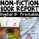 Nonfiction Book Report Print & Google Classroom™