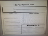 NonFiction Informational Graphic Organizer/ Retell