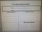 NonFiction Informational Graphic Organizer/ Retell