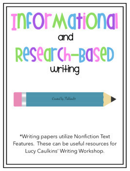 NonFiction Informational Writing Paper