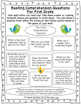 NonFiction Reading Comprehension Sheet