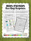 Non-Fiction Reading Response Choice Board Bundle
