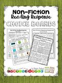 Non-Fiction Reading Response Choice Board Bundle