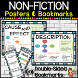 NonFiction Text Structure Graphic Organizer Posters and Bookmarks