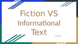 NonFiction VS Fiction Text