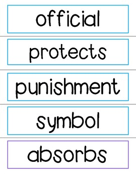 NonFiction Vocabulary Cards