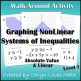 NonLinear Systems of Inequalities:Linear & Absolute Value~Walk Around Activity~1
