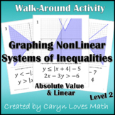 NonLinear Systems of Inequalities:Linear & Absolute Value~Walk Around Activity~2