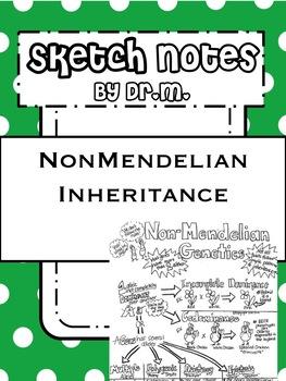NonMendelian Inheritance Genetics Sketch Notes W/Teacher's Guide & Student Notes