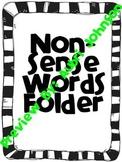 NonSense Word Fluency Folder
