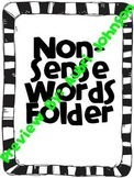 NonSense Word Fluency Folder