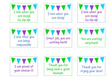 NonVerbal Praise and Warning Cards for Students