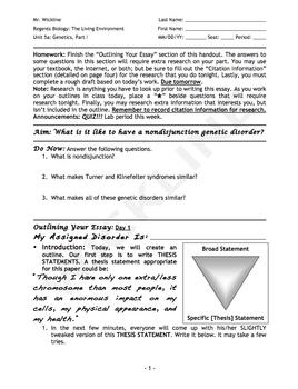 Nondisjunction Essay