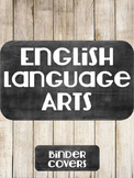 Noneditable English Language Arts Binder Cover Chalkboard