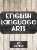 Noneditable English Language Arts Binder Cover Chalkboard