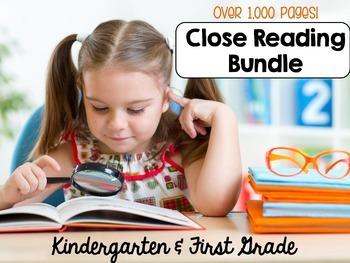 Close Reading   Kindergarten & First Grade   HUGE Bundle