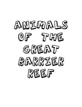 Nonfiction ABC Book: Animals of the Great Barrier Reef