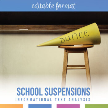Nonfiction Analysis for Secondary Students: Do School Suspensions Work?